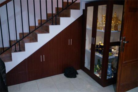furniture lemari bawah tangga bandung - furniture di